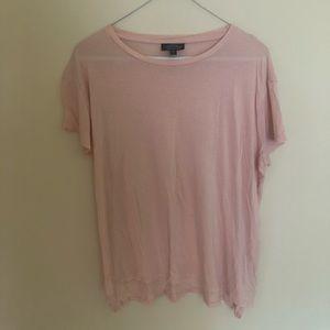 Top Shop Pink Short Sleeve Shirt Size Medium